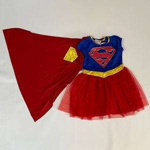 🍀3/$25 DC Supergirl Costume with Cape